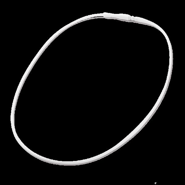 Photo Necklace SMC SCHALI®, white, closed, 1 PCs